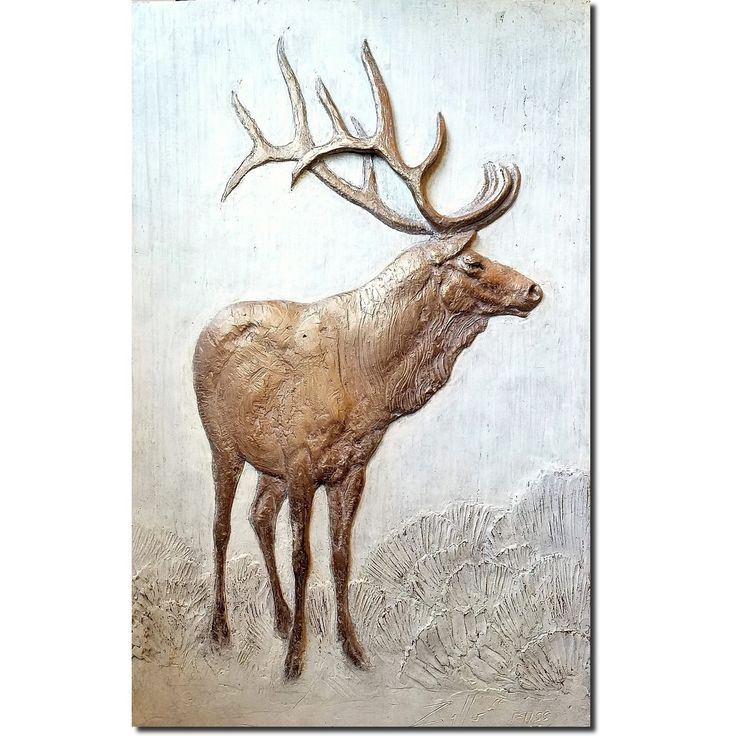 A unique wall decor item for your cabin or lodge this handsome elk bas relief limited edition wall art is signed by artist rod zullo