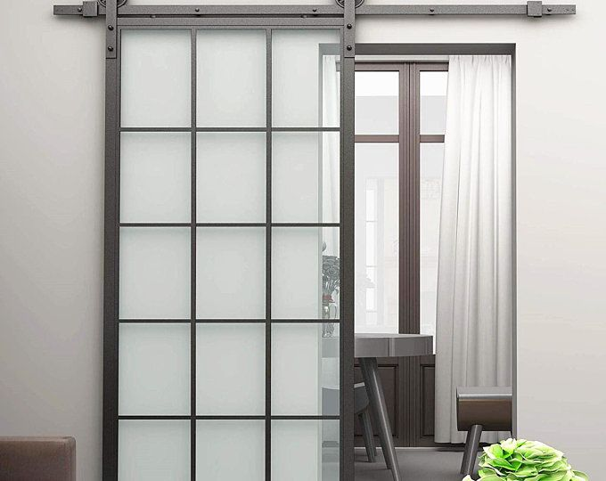 Sliding Barn Doors With Glass Etsy Glass Barn Doors Pet Door Sliding Glass Door Barn Doors Sliding