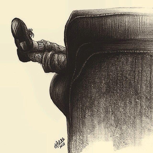 Boredom by Khalid al Dakheel #artwork #sketch #drawing #illustration #cartoon