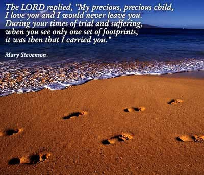 Footprints…love this one Brooke.  He was carrying your Dad for a long time….: Mom S Favorites, Dad, Favorite Sayings, Footprints Have, Inspirational Quotes, Footprints Reminds, Favorite Quotes, Footprints Love, Fav Quote