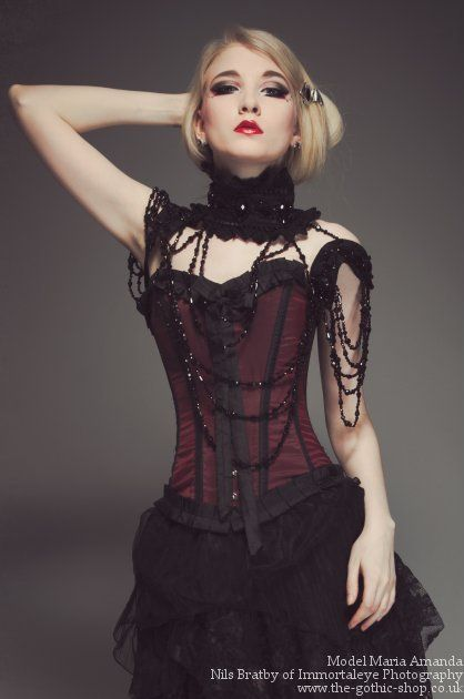 Beautiful Burgundy Red Taffeta Lily Gothic Corsethttp://www.the-gothic-shop.co.uk/