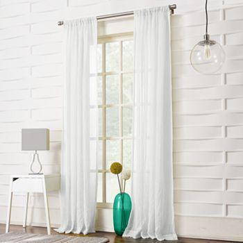 Sheer Curtains 63 sheer curtains : No918 Millennial Lourdes Window Panel - 50'' x 63'' (White)
