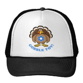 Funny Thanksgiving Hanukkah 2013 [r] Trucker Hats
