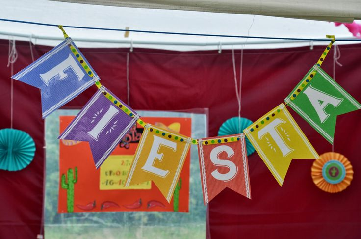 mexican party decorations banner