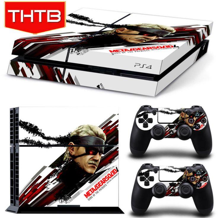 Для PS4 Шкуры Metal Gear Solid V Ground Нули Винил Наклейка Обложка для Sony Ps 4 Игровой Консоли