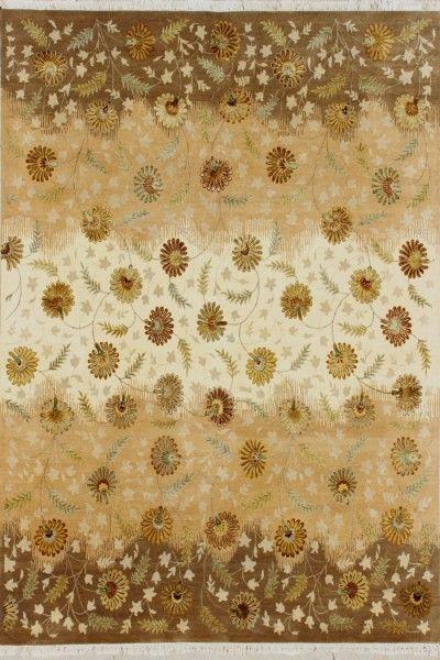 Aribrahmen Luxury Transitional Wool & Silk Rug E1762