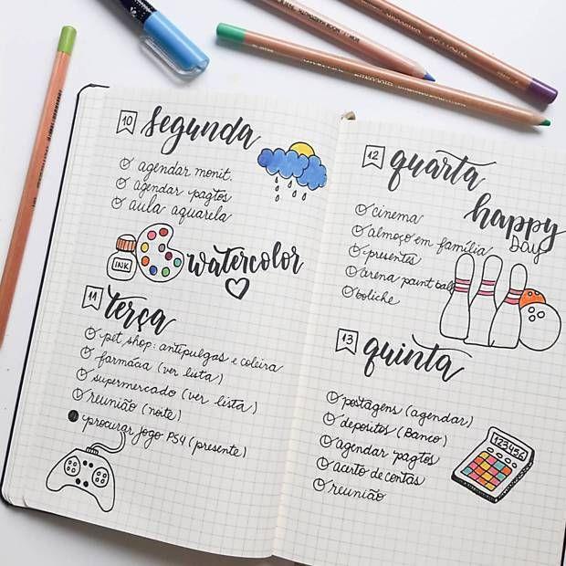 Diário em tópicos, 'bullet journal' ajuda na organização cotidiana - 15/11/2016 - Equilíbrio e Saúde - Folha de S.Paulo