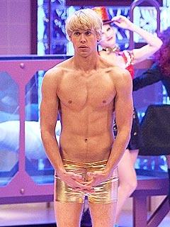 shirtless Chord Overstreet on Glee's Rocky Horror episode