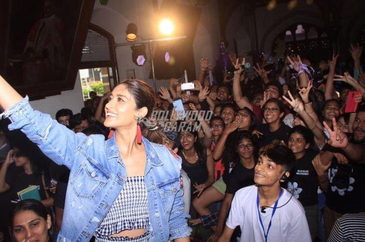 Ileana D'Cruz clicks a groupie during a promotional event