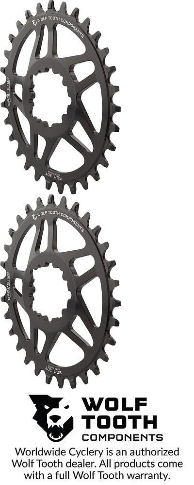 Chainrings and BMX Sprockets 177811: Wolf Tooth Components Elliptical Chainring 30T For Sram Direct Mount, 6Mm Offset BUY IT NOW ONLY: $66.45