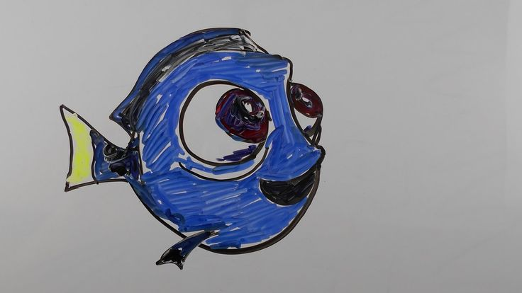 How To Draw Little #Dory – Mr. Cute Cartoon Drawing Club