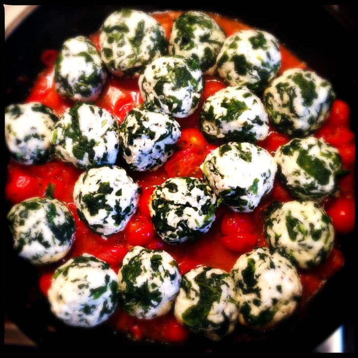 Ricotta and spinach dumplings - Gino D'Acampo