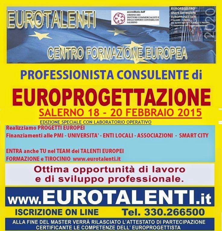 #LAVORO IMMEDIATO-OPPORTUNITA' #PROFESSIONALE ad alto rendimento economico con le competenze dell' #EUROPROGETTISTA.ENTRA  nel TEAM DEGLI ESPERTI IN #EUROPROGETTAZIONE –ESPRIMI IL TUO TALENTO:  www.eurotalenti.it VIDEO SU EUROPROGETTAZIONE https://www.youtube.com/watch?v=aUY6eFgR1YI