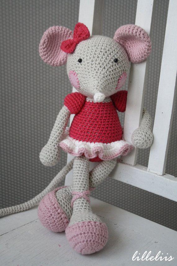 """""""Ballerina-mouse - crochet amigurumi toy. $60.00, via Etsy."""" #Amigurumi #crochet"""