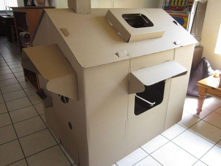 1000 ideas about cardboard cat house on pinterest cat. Black Bedroom Furniture Sets. Home Design Ideas