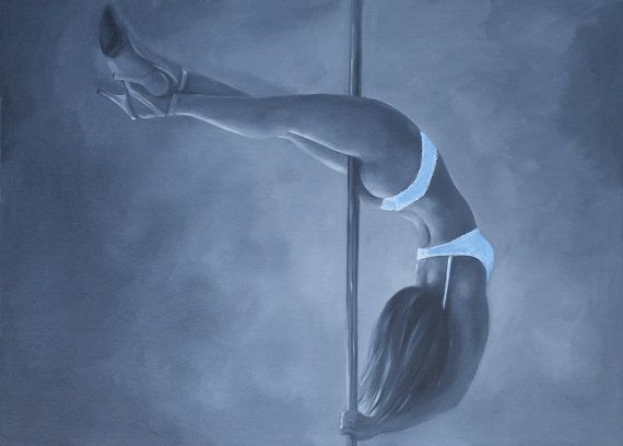 Commission Your Own Pole Dance Paintings From Photos By Jojezebelle