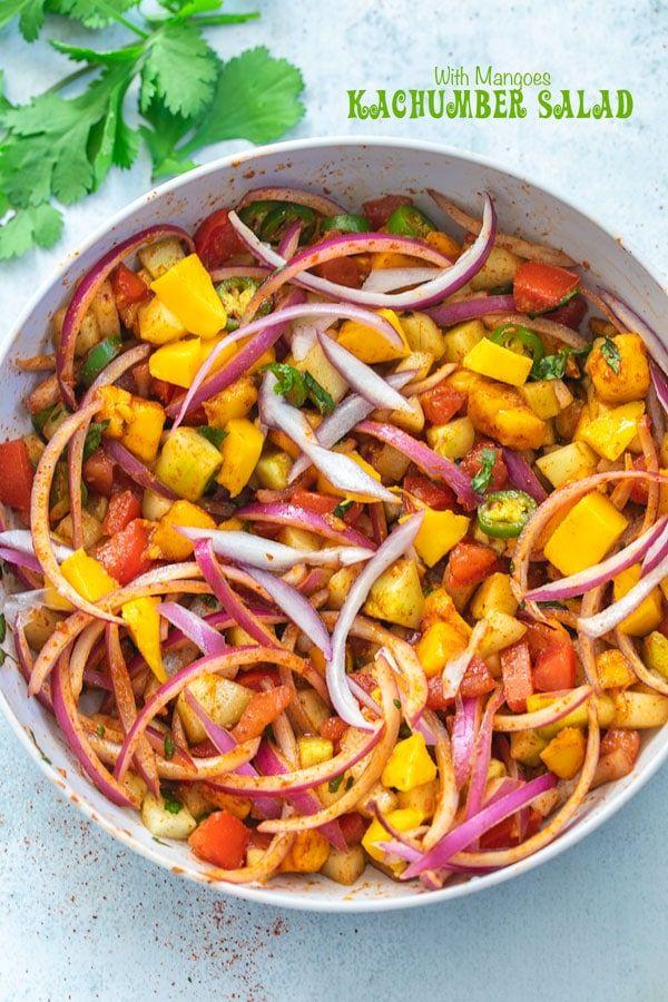 Gujrati Kachumber Salad Recipe Recipe Vegetarian Salad Recipes Kachumber Salad Indian Food Recipes Vegetarian