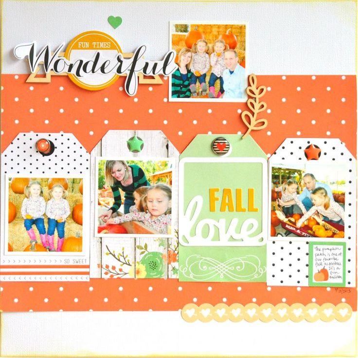 #papercraft #scrapbook #layout. Fall Love