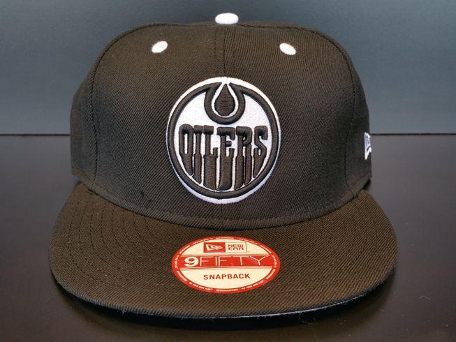 Edmonton Oilers Snapback Exclusive Custom Black and White
