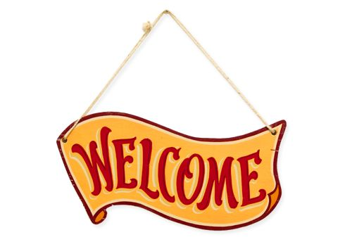 Naturally -Welcome Sign Plate-