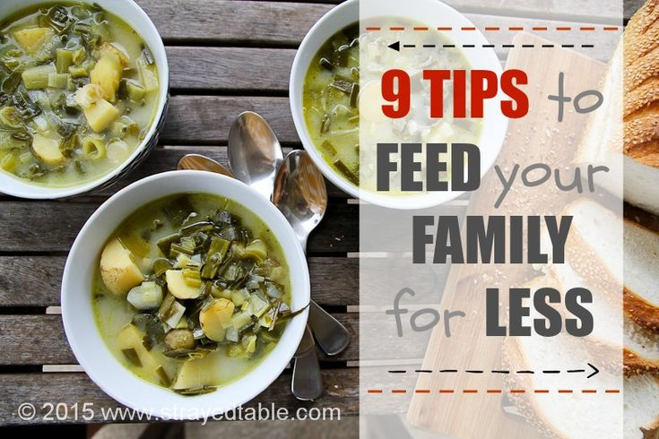9 Tips to feed your family for less