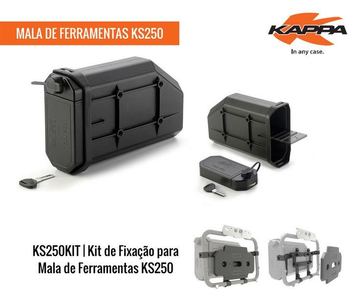 KAPPA | Mala de Ferramentas KS250 || Mala de ferramentas a ser instalada entre o suporte da caixa lateral e a carnagem da moto. Para combinar, por exemplo, com o KIT de Fixação Universal KS250KIT ou com KIT's de Fixação específicos TL. #kappa #lusomotos #KS250 #KS250KIT #estilodevida #qualidade #segurança #conforto #organização #estrada #openroad #kappastyle #maladeferramentas #mala #ferramentas #kappamoto