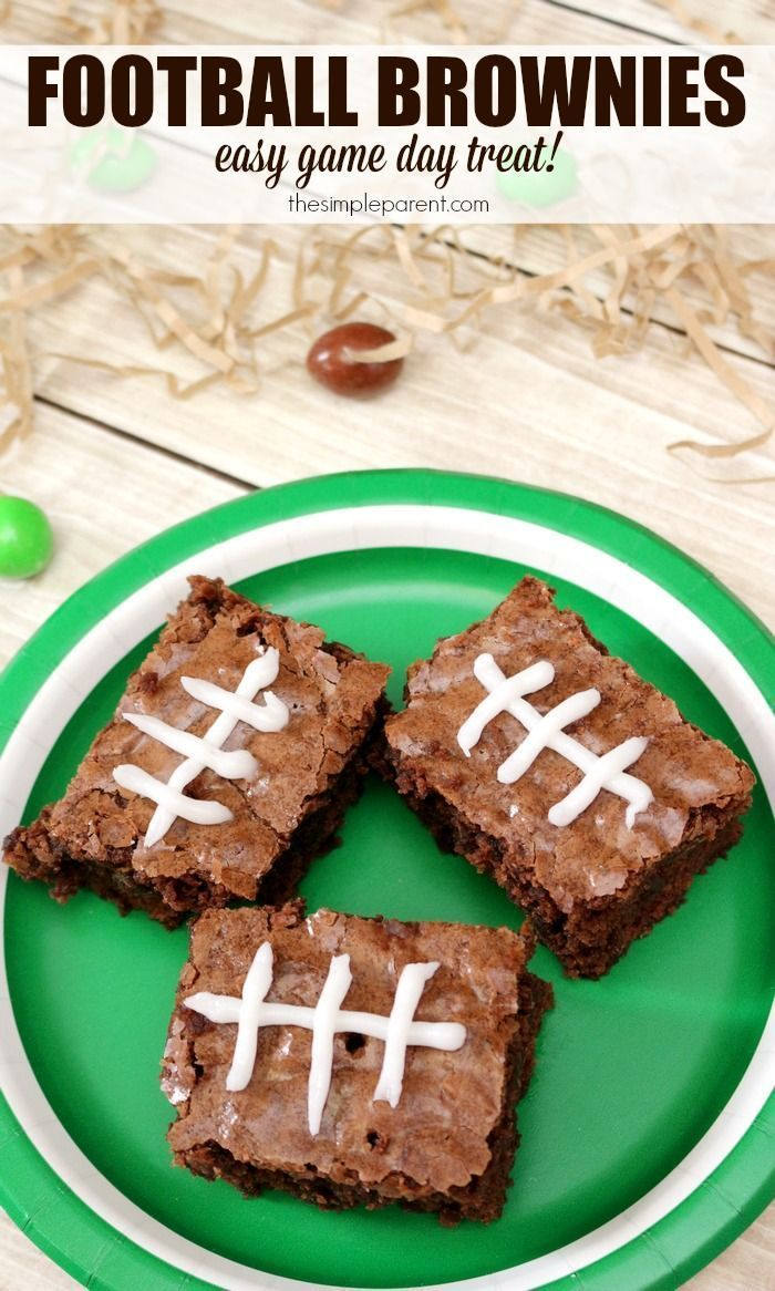 Entertaining & party dessert recipe - Make these easy football brownies for a perfect game day treat!