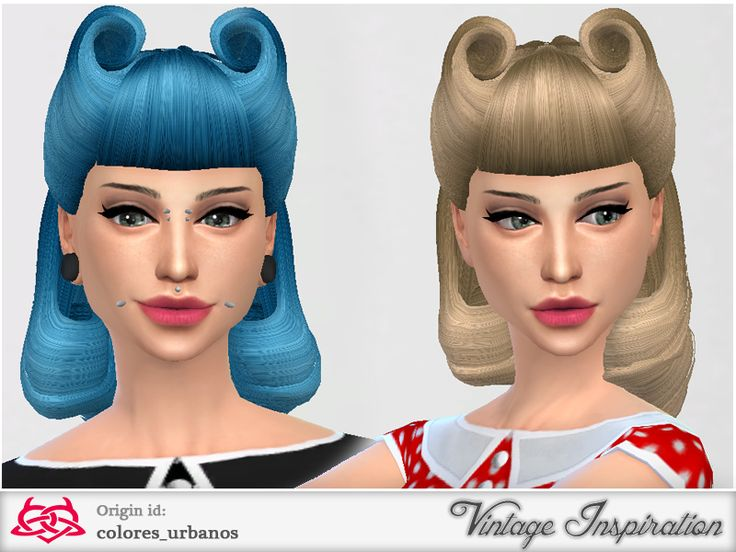Hairstyles  Victory Rolls 01 hair by Colores Urbanos from The Sims Resource. 64 best sims 4 rockabilly pinup style images on Pinterest   Pinup