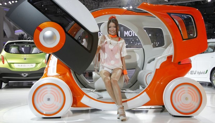Tokyo Motor Show 2011: Design Toys, Quirky Cars, Motors Cars, Color, Tokyo Motors, Concept Cars, Suzuki Qconcept, Quirky Motors, Photo