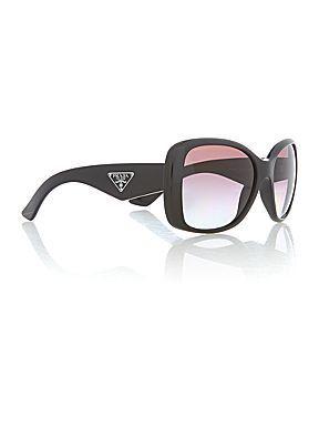 Ladies black square sunglasses