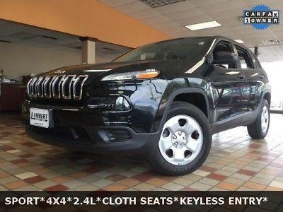 eBay: 2014 Jeep Cherokee Sport 2014 Jeep Cherokee Sport 8410 Miles Brilliant Black Crystal Pearlcoat 4D Sport U #jeep #jeeplife