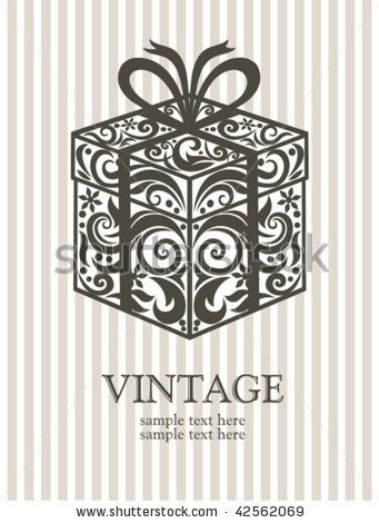 Vintage gift box. by vectorgirl, via Shutterstock