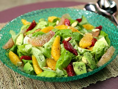 Citrus Salad with Poppyseed-Lemon Vinaigrette from Kimberly's Simply Southern featured on GAC!