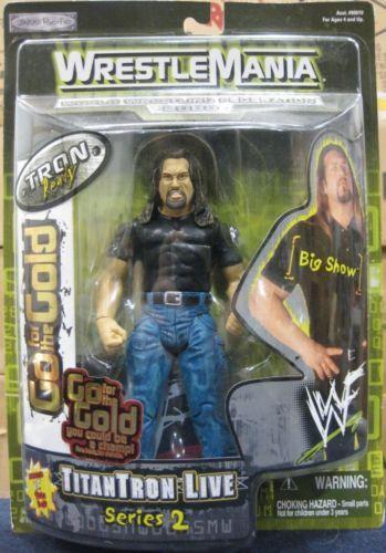 The Big Show WWF action figure Wrestlemania 2000 JAKKS Pacific NIB Titantron