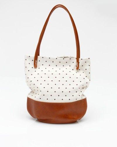 Riley Tote In Polka Dot: Riley Totes, Polka Dots, Woman Accessories, Renn Riley, Dots Bags, Polkadot, Leather Totes, Dots Totes, Hobo Bags