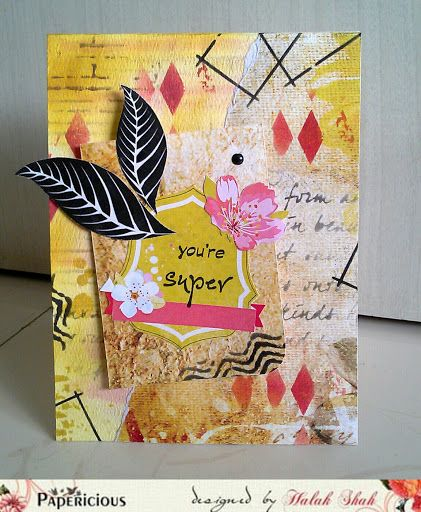 "Papericious: A Card, with a twist! using ""The Vintage Attire"" paper pack"