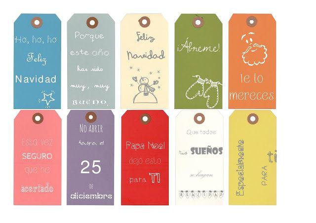 Etiquetas descargables para decorar vuestros regalos | Elenarte