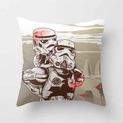 Storm Troopers Throw Pillow by Defeat Studio - $20.00