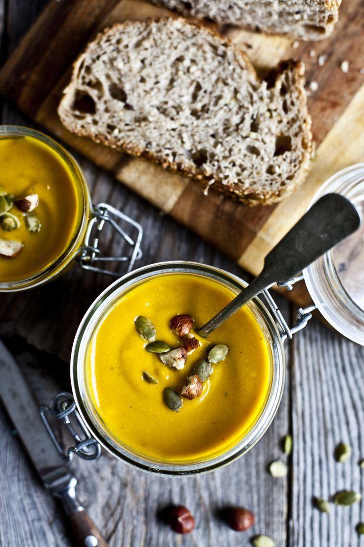 Soupe carotte, courge et curcuma