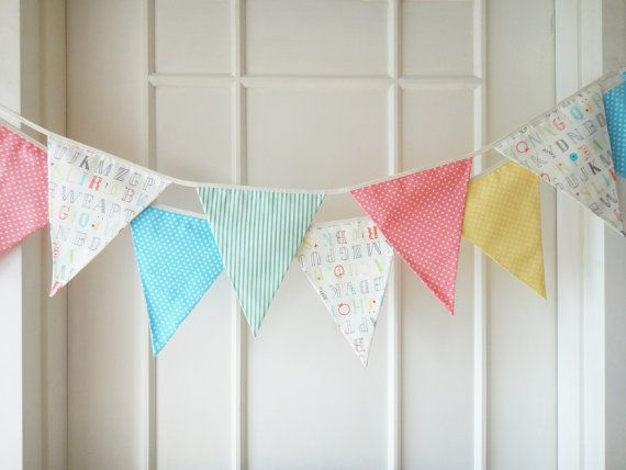 Baby+Bunting+Fabric+Banners+Pennants+Garlands+by+BerryAlaMode,+$29.00