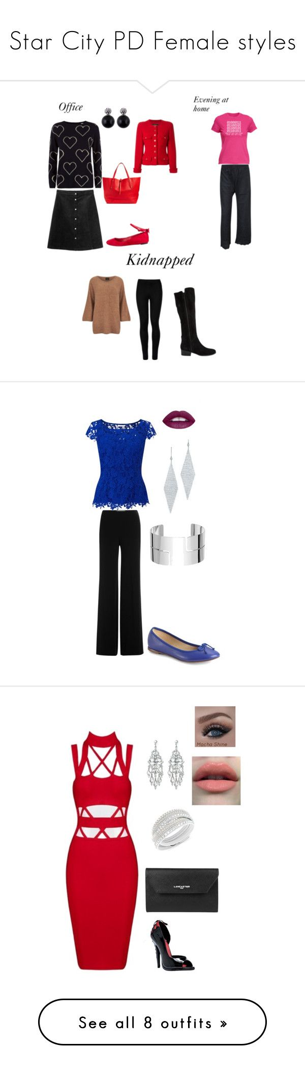 """""""Star City PD Female styles"""" by sara-scott-i on Polyvore featuring Chinti and Parker, Monki, Alice + Olivia, Annabel Ingall, Chanel, Wolford, VILA, Steve Madden, Jacques Vert and Diane Von Furstenberg"""