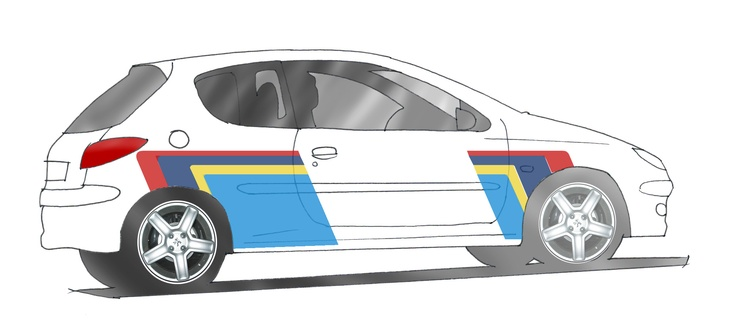 Peugeot 206 GTI with PTS stickers