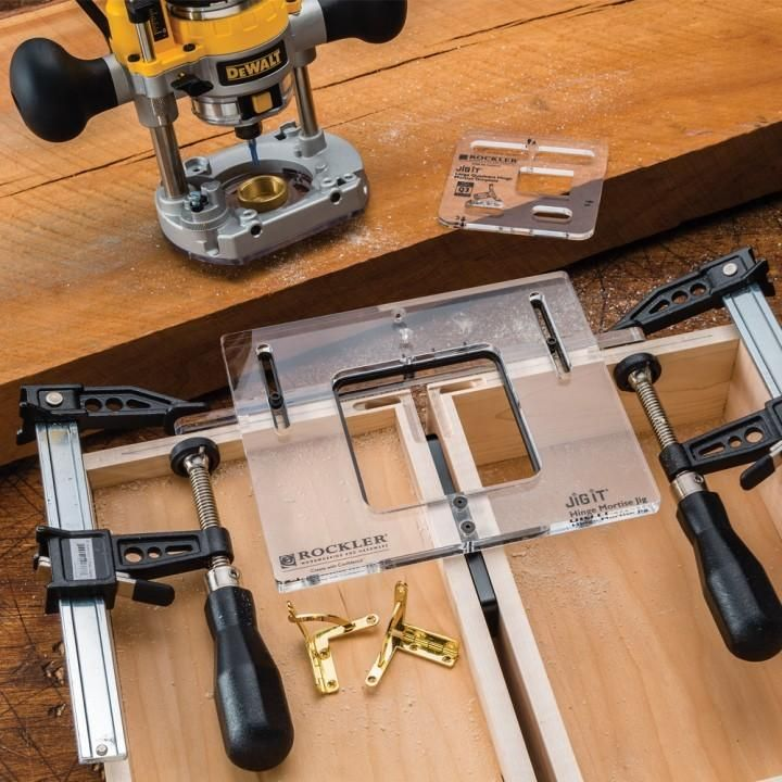 Jig It 174 Hinge Mortising System In 2019 Woodshop Outils