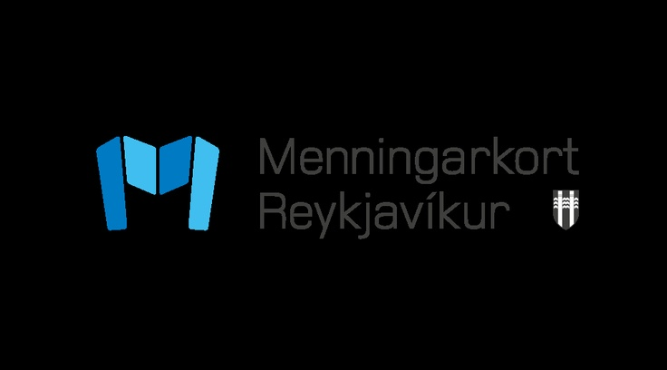 Logo for a member card, valid at city museums in Reykjavik, Iceland.