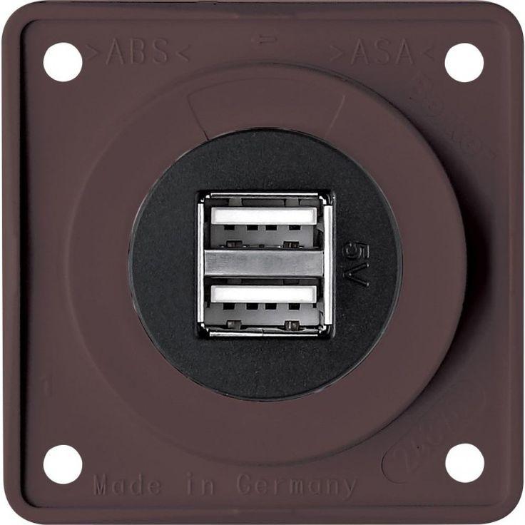 USB zásuvka 12 V – antracitová  | Campi-shop.cz - vše pro karavan a camping