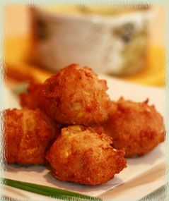 Squash Puppies with Roasted Jalapeño Mayonnaise Dipping Sauce