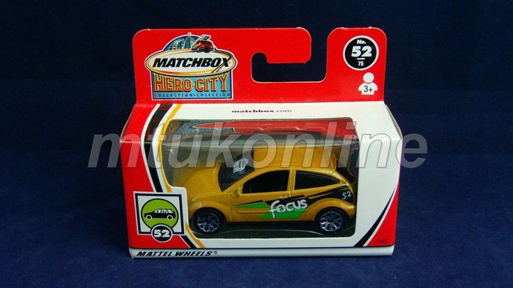 MATCHBOX 2002 FORD FOCUS | CHINA | HERO CITY 52 | 97853 | LOGO ON FRONT