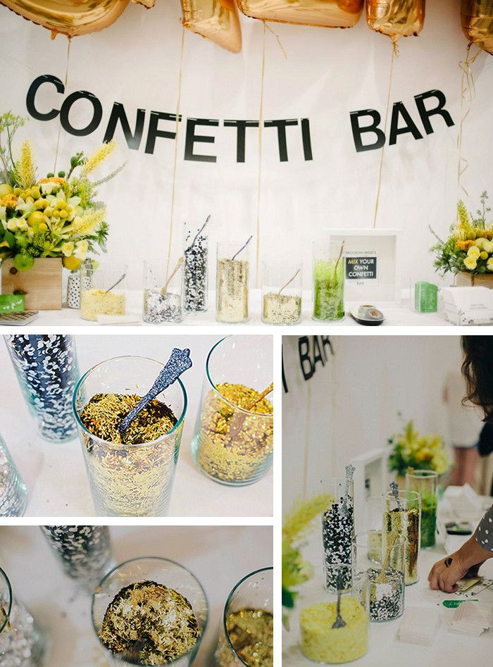 it's not a party unless there's confetti!#designsponge #dssummerparty I'm crazy for confetti, so why not turn it into something fun for everyone. this is something people can do to use in pictures or even just spread some glitter around the room: