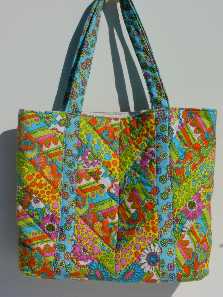 bright tone cotton quilted tote bag. 37 x 36 x 9 cm $60