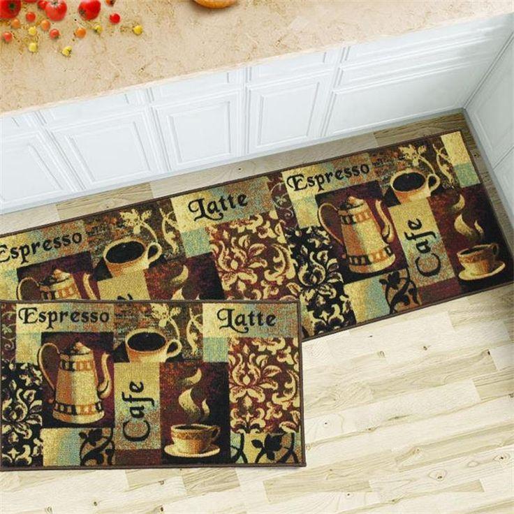 50X80+50X150CM Coffee Kitchen Mat Home Entrance/Hallway Doormat Sliding Door/Balcony Area Rug Wardrobe Floor Mat Bathroom Carpet